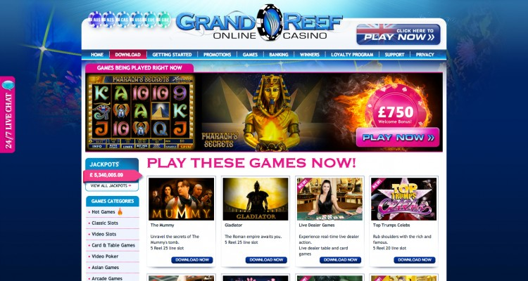 Grand Reef Casino Review – Is this A Scam/Site to Avoid