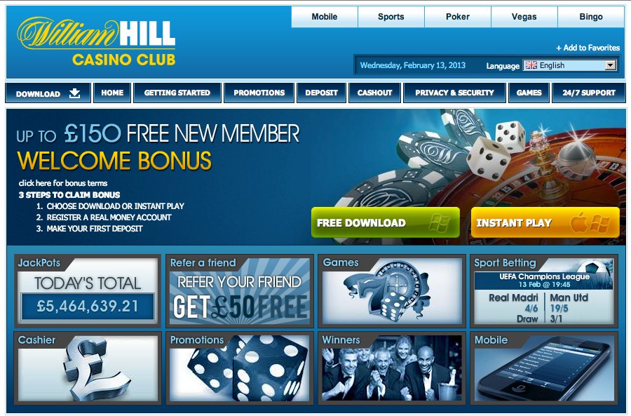 william hill casino spielgeld