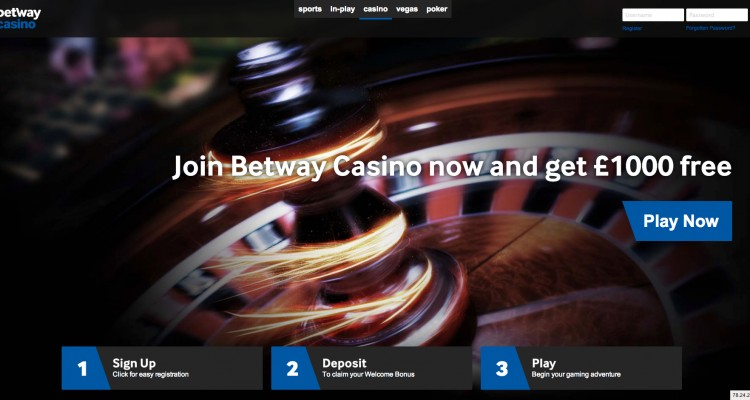 Betway casino canada login